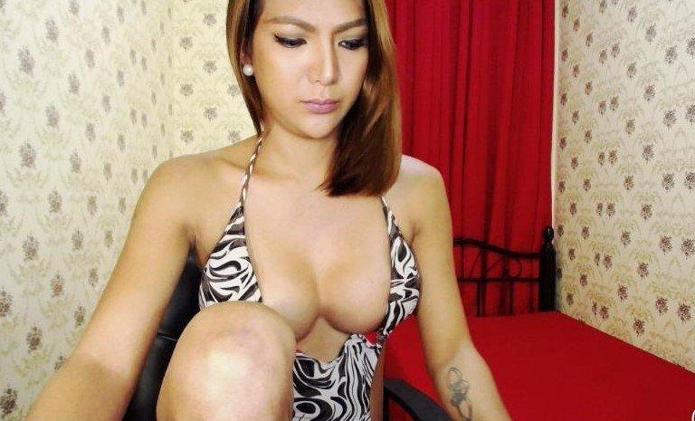 Webcam seks met een Aziatische t-girl