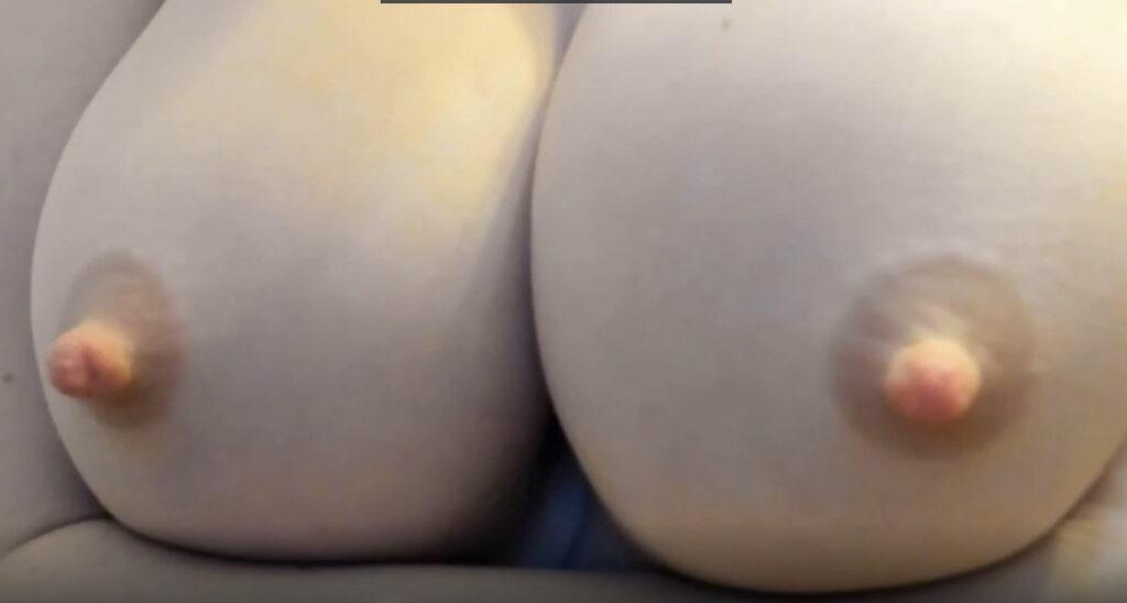 Inzoomen op mooie borsten